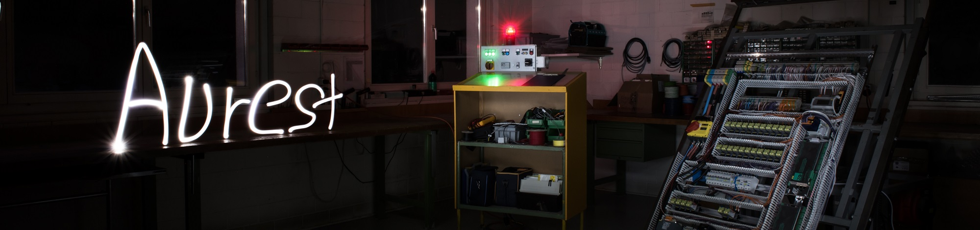 Lightpainting in Werkstatt aurest